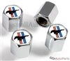 Ford Mustang Logo Chrome ABS Tire Valve Stem Caps