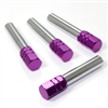 4 Purple Aluminum Chrome Interior Door Lock Knobs Pins for Car-Truck-HotRod