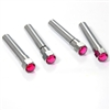4 Pink Diamond Bling Chrome Interior Door Lock Knobs Pins for Car-Truck-HotRod