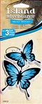 3 Blue Butterfly Beach Breeze Hanging Tree Style Air Freshener for Car-Truck etc