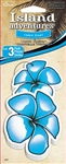 3 Hawaiian Flower New Car Scent Hanging Tree Style Air Fresheners for Car-Truck