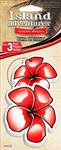 3 Hawaiian Flower Cherry Breeze Hanging Tree Style Air Fresheners for Car-Truck