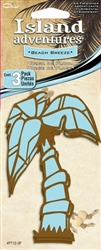 3 Blue Palm Tree Beach Breeze Scent Hanging Air Freshener for Car-Truck-Home etc