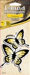 3 Yellow Butterfly Vanilla Hanging Tree Style Air Freshener for Car-Truck etc.