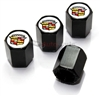 Cadillac Old Style Logo Black ABS Tire Valve Stem Caps