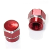 2 Red Hex Aluminum Wheel Tire Pressure Air Stem Valve Caps for Motorcycle-Bike