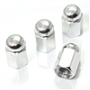 4 Chrome Hex Dome Wheel Tire Pressure Air Stem Valve Caps for Auto-Car-Truck