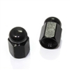 2 Black Hex Dome Wheel Tire Pressure Air Stem Valve Caps for Motorcycle-Bike