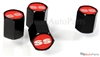 Chevrolet SS Red Logo Black ABS Tire Valve Stem Caps