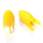 2 Custom Yellow Rocket Tire Wheel Air Stem Presta Valve Caps for Bicycle-Bike
