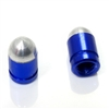 2 Custom Blue Bullet Tire Wheel Air Stem Presta Valve Caps for Bicycle-Bike