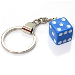 Blue Dice Keychain