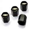 Chevrolet Gold Logo Black ABS Tire Valve Stem Caps