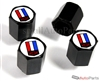 Chevrolet Camaro Logo Black ABS Tire Valve Stem Caps