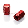Red Aluminum Tire Valve Stem Caps