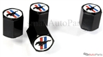 Ford Mustang Logo Black ABS Tire Valve Stem Caps