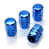 Blue Aluminum Tire Valve Stem Caps