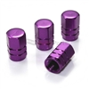 Purple Aluminum Tire Valve Stem Caps