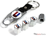 Chevrolet Camaro Logo Chrome ABS Tire Valve Stem Caps & Key Chain