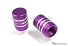 Purple Aluminum Chrome Stripes Tire Valve Stem Caps