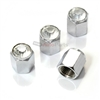 Bling Crystal Clear Chrome Diamond Tire Valve Stem Caps