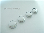 4 Chrome ABS License Plate Frame Screw Caps
