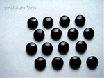 16 Black ABS License Plate Frame Screw Caps