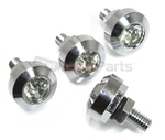 Chrome Diamond Bling License Plate Frame Fasteners Bolts