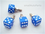 Blue Dice License Plate Frame Fasteners Bolts