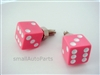 Pink Dice License Plate Frame Fasteners Bolts