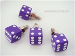 Purple Dice License Plate Frame Fasteners Bolts