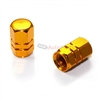 Yellow Gold Aluminum Tire Valve Stem Caps