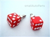 Red Dice License Plate Frame Fasteners Bolts