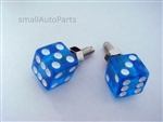 Clear Blue Dice License Plate Frame Fasteners Bolts