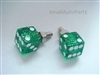 Green Glitter Dice License Plate Frame Fasteners Bolts