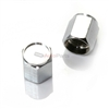 Chrome Silver Metal Tire Valve Stem Caps