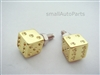 Yellow Gold Dice License Plate Frame Fasteners Bolts