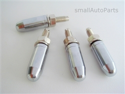 Chrome Bullet Tip License Plate Frame Fasteners Bolts