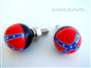 Rebel Flag License Plate Frame Fasteners Bolts