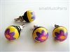 Purple Flower License Plate Frame Fasteners Bolts