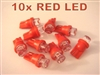 Red T10 LED Light Bulbs