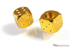 Yellow Gold Aluminum Dice Tire Valve Stem Caps