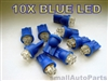 Super Blue T10 4-LED Light Bulbs