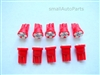 Red T10 4 SMD LED Light Bulbs