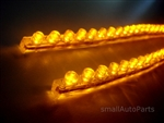 "Yellow Amber 24CM 9.5"" PVC LED Light Strips"