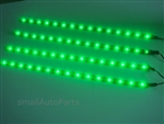 "Cool Green 12"" 1210 LED Light Strips"
