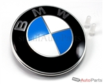 BMW Genuine Original Roundel Hood or Trunk 82mm Emblem Round Badge + 2 Grommets