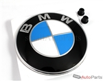BMW Genuine Original Roundel Trunk or Fender Emblem Round Badge + 2 Grommets