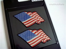 American Flag Domed Emblem Stickers
