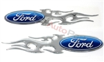 Ford Flames Domed Emblem Stickers